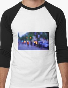 Bokeh City Men's Baseball ¾ T-Shirt