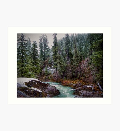Early Snow ~ Upper Quartzville Crek~ Art Print