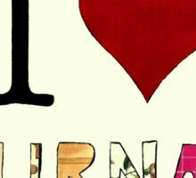 I Love Journals Sticker