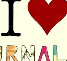 I Love Journaling Sticker