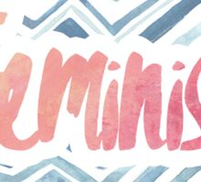 Feminist Typography 2 Sticker