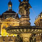 France. Bordeaux. Three Graces Fountain. Night. by vadim19