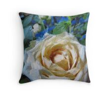 Champagne Roses Throw Pillow