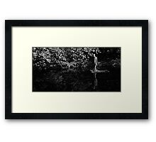 Gormley 2x6 - Standing In Blur And Reflection Framed Print