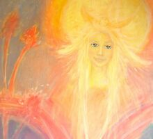 Angel of the sun by Lilaviolet