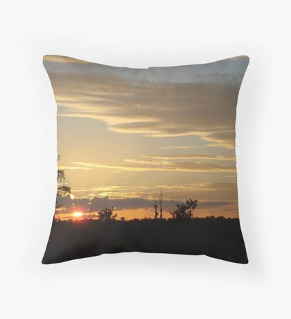 Beautiful October Sunset 2015 Throw Pillow