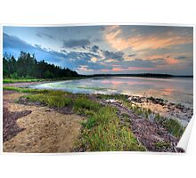 Sunset on the Salt Marsh Poster