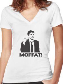 MOFFAT! David Tennant Fist Shake Women's Fitted V-Neck T-Shirt