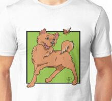 dog and butterfly Unisex T-Shirt