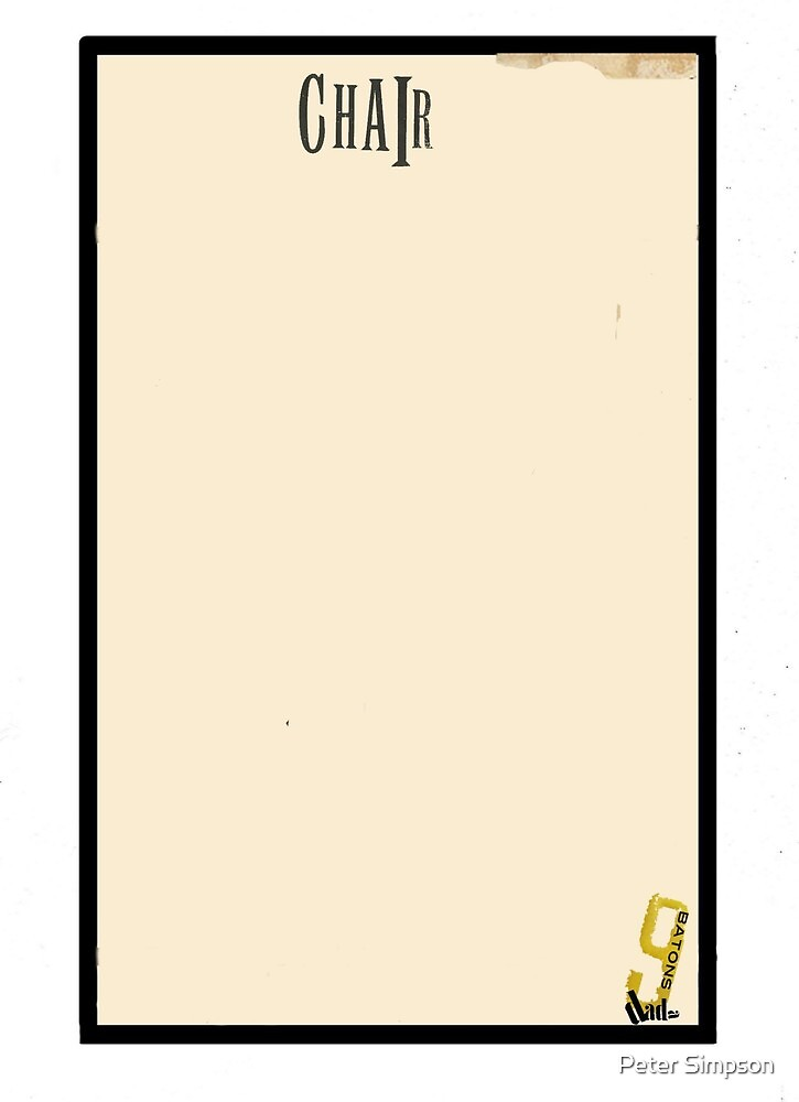 Dada Tarot-9 of Batons by Peter Simpson