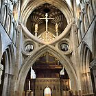 Wells Cathedral - The Scissor Arch by Clive