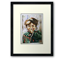 """I always wear my smile on the way out."" Framed Print"