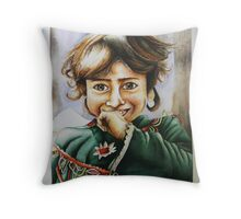 """""""I always wear my smile on the way out."""" Throw Pillow"""