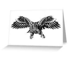 Ornate Falcon Greeting Card