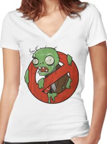 Zombie Buster Women's Fitted V-Neck T-Shirt