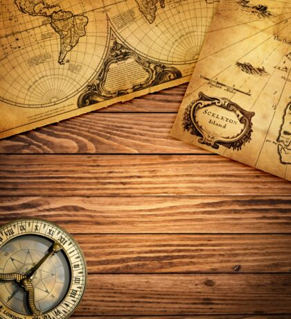 Compass and Map Sticker