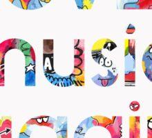 Love music again Sticker
