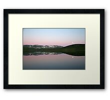 Storhaugvatnet - mountain lake reflections Framed Print