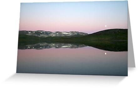Storhaugvatnet - mountain lake reflections by Algot Kristoffer Peterson