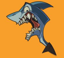 Angry blue shark with shading by The Tundra Ghost