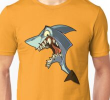 Angry blue shark with shading Unisex T-Shirt