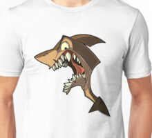 Angry brown shark with shading Unisex T-Shirt
