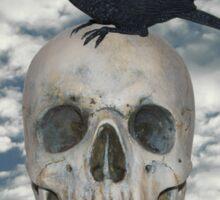 Crow on Skull Sticker