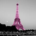 La Vie En Rose - Eiffel Tower in pink by Kim North
