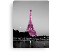 La Vie En Rose - Eiffel Tower in pink Canvas Print