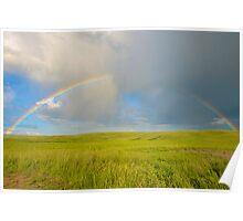 Prairie Rainbow Poster