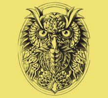 Owl Portrait One Piece - Short Sleeve