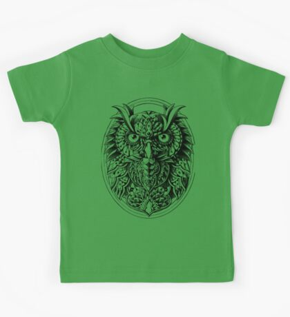 Owl Portrait Kids Tee
