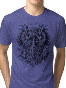 Owl Portrait Tri-blend T-Shirt