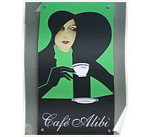 Cafe Alibi poster- Budapest, Hungary Poster