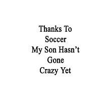 Thanks To Soccer My Son Hasn't Gone Crazy Yet  by supernova23