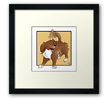 happy to see you! Framed Print