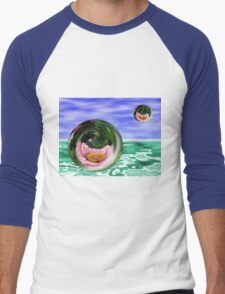 Flower Bubbles Men's Baseball ¾ T-Shirt