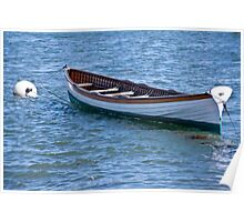 Long Boat Moored Poster