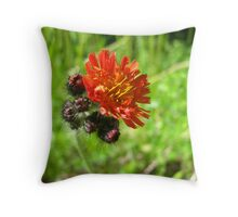 Red Flower two Throw Pillow