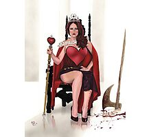 Bloody red Queen Photographic Print