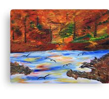 Fall on the Bow River Canvas Print