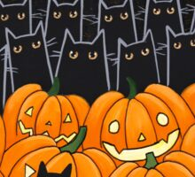 Black Cats & Jack-o-Lanterns Sticker