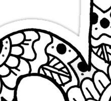 zentangle d: black/white Sticker