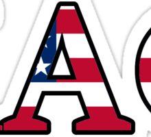 Kappa Alpha Theta American Flag Sticker