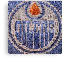 The Oilers - Bottle Cap Mosaic Canvas Print