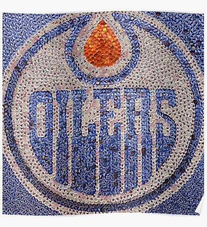 The Oilers - Bottle Cap Mosaic Poster
