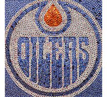 The Oilers - Bottle Cap Mosaic Photographic Print