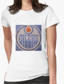 The Oilers - Bottle Cap Mosaic Womens Fitted T-Shirt