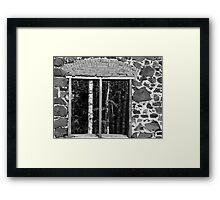 Delaware Mine Ruin window Framed Print