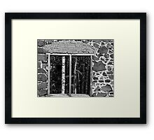 Delaware Mine Ruin window Framed Print
